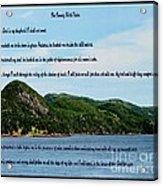 Twenty Third Psalm And Mountains Acrylic Print