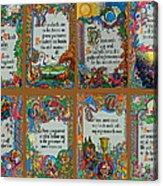 Twenty Third Psalm Collage Acrylic Print