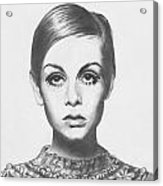 Twiggy - Pencil Acrylic Print