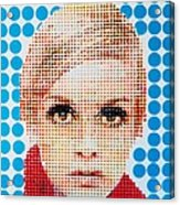 Twiggy Blue Dot  Acrylic Print by Grant  Swinney