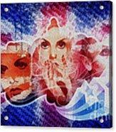 Twiggy Acrylic Print by Mo T