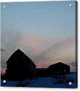 Twilight Barn Acrylic Print