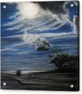 Twilight Beach Acrylic Print by Rachael Curry