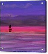 Twilight Between Sunset And Night Acrylic Print
