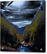 Twilight Canyon Eclipse Acrylic Print