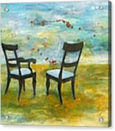 Twilight - Chairs Acrylic Print by Deborah Allison