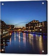 Twilight Docks Acrylic Print