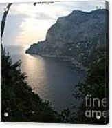 Twilight Glow In Capri Acrylic Print