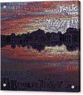 Twilight In Pasco Acrylic Print