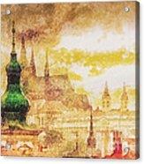 Twilight In Praha Acrylic Print