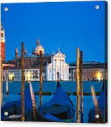 Twilight In Venice  Acrylic Print