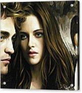 Twilight  Kristen Stewart And Robert Pattinson Artwork 1 Acrylic Print