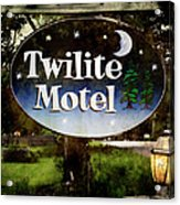 Twilight Motel Acrylic Print