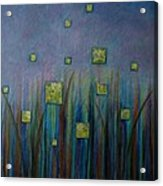 Twilight N Fireflies Acrylic Print