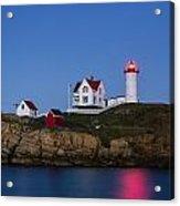 Twilight Nubble Lighthouse Acrylic Print