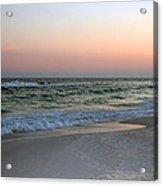 Twilight Ocean Beach Acrylic Print
