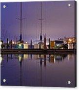 Twilight On The Dock Of The Bay Acrylic Print