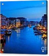 Twilight On The Grand Canal Acrylic Print