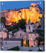 Twilight Over Les Baux Acrylic Print