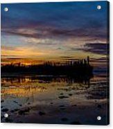 Twilight Silhouette At Candle Lake Acrylic Print by Gerald Murray Photography