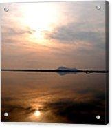 Twilight View Of Dal Lake- Kashmir- India- Viator's Agonism Acrylic Print by Vijinder Singh