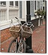 Twin Bicycles Acrylic Print