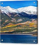 Twin Lakes Colorado Autumn Panorama Acrylic Print