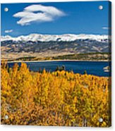 Twin Lakes Colorado Autumn Snow Dusted Mountains Acrylic Print by James BO  Insogna