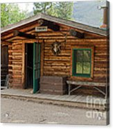 Twin No. 1 Cabin At The Holzwarth Historic Site Acrylic Print