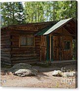Twin No. 2 Cabin At The Holzwarth Historic Site Acrylic Print