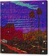 Twin Palms Purple Haze Acrylic Print