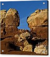 Twin Rocks Capitol Reef National Park Utah Acrylic Print