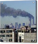 Twin Towers Burning Acrylic Print