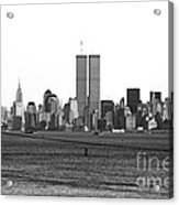 Twin Towers From Staten Island Acrylic Print