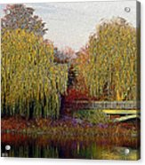 Twin Willows Acrylic Print