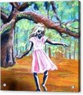 Twirl Under The Oaks Acrylic Print