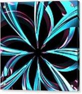 Twisted Blue Acrylic Print