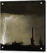 Twisted Desert Lightning Storm Acrylic Print