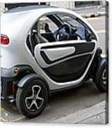 Twizy Rental Electric Car Side And Back Milan Italy Acrylic Print