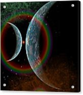 Two Alien Planets In A Distant Part Acrylic Print