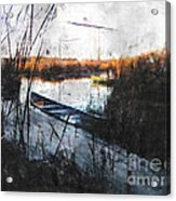 Two At The Dock Acrylic Print