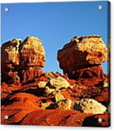 Two Big Rocks At Capital Reef Acrylic Print by Jeff Swan