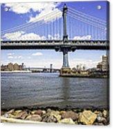 Two Bridges View - Manhattan Acrylic Print