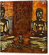 Two Buddhas Acrylic Print