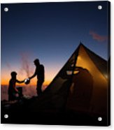 Two Campers Preparing Acrylic Print