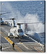 Two Ch-46e Sea Knight Helicopters Acrylic Print