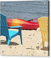 Two Chairs And A Boat Acrylic Print