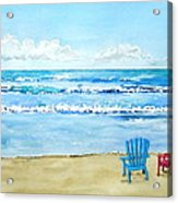 Two Chairs At The Beach Acrylic Print