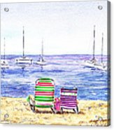 Two Chairs On The Beach Acrylic Print