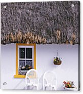 Two Chairs Outside A Cottage, County Acrylic Print